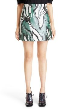 J.W.ANDERSON Abstract Print Nappa Leather Skirt. #j.w.anderson #cloth #