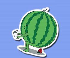Watermelon strawberry fuuny Sticker Skateboard Bike Car Vinyl Laptop Decal #Nil