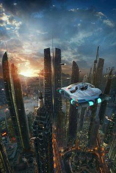 The Wertzone: The Vorkosigan Saga Reading Order / sci fi city / fantasy / futuristic / cyberpunk Cyberpunk City, Ville Cyberpunk, Cyberpunk Kunst, Futuristic City, Futuristic Architecture, City Architecture, Fantasy City, Fantasy Landscape, Sci Fi Fantasy