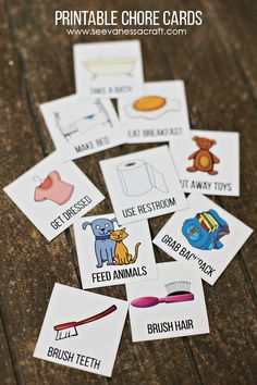 Free Printable Chore Cards for Kids #UniteMonday #ad