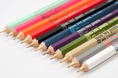 """Mechanical pencils of Mark\'s Tokyo Edge, Japan have wood shaft with French """"tous les jours mes stylos,"""" which means """"my everyday pen"""" on. Each side of the pencil has activity o..."""