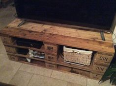 DIY Personalized Pallet TV Stand | Pallet Furniture DIY