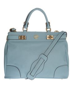This Powder Blue Nadeen Leather Tote by Segolene En Cuir is perfect! #zulilyfinds
