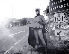 Hey Kacee - he needs to find that Batcave road that we saw....!!!