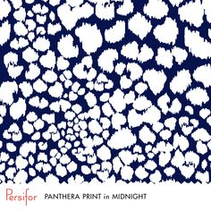 Persifor Panthera Print in Midnight. Bold Pantone colors. Everything navy. Unique prints.