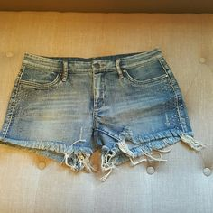 BLANK NYC Shorts BLANK NYC new never worn jean distressed shorts. Embellishment on each side  of shorts. 98% cotton / 2% spandex Blank Denim Shorts Jean Shorts