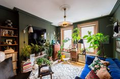 Brightly painted London apartment for sale