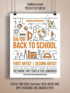 Back To School Flyer | Poster - Clubs & Parties Events