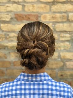 try out this elegant twisted updo at your next hairstyling appointment (with goldplaited of course ) | hairstyle by goldplaited