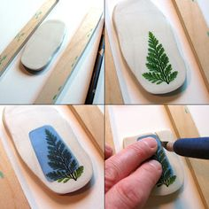 UnaOdd's tutorial for making her nature pendant molds. #polymer clay #tutorial