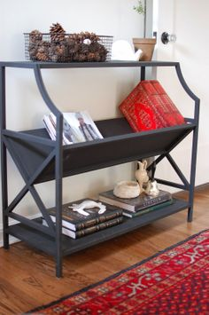 I want this entry table...maybe troy can build it? gillar girl: harvard avenue home tour // the entryway