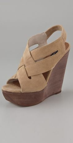 88e4e58c0d5f Steven Banndo Suede Wedge Sandals