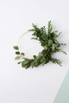 Asymmetrical wreath