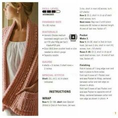 Crochet ** Wrap with Pockets ** With Special Thanks to Mimibazar.sk: