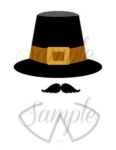 Instant Download Thanksgiving PILGRIM boy photo booth props by LemonSqueezeDesigns, $2.99