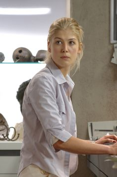 Samantha Grimm (Rosamund Pike.) I might be the only person alive who liked Doom, but it's going on my fandom board anyways! <3