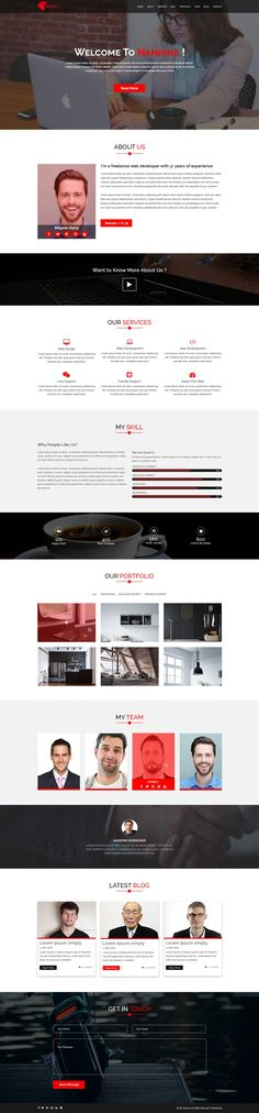 Nandine Portfolio is a clean, Creative and highly professional template design. Super easy to use Nandine template for any portfolio or CV realted websites. The version has all the functionalities to display any kinds of portfolio/CV realted websites in a beautiful way.