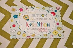 Cute as a button party invitations