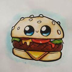 Resultado de imagen para 365bocetos Kawaii Girl Drawings, Cute Food Drawings, Cute Little Drawings, Cute Cartoon Drawings, Cool Art Drawings, Disney Drawings, Cartoon Art, Arte Do Kawaii, Kawaii Art