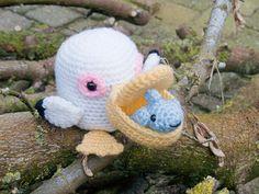 Amigurumi Pelican & Guppy Crochet Pattern by AmigurumiWizard