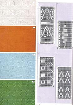 """Photo from album """"Pattern Library"""" on Yandex. Knitting Charts, Lace Knitting, Knitting Stitches, Knitting Machine, Mosaic Patterns, Knitting Patterns, Pattern Library, Fabric Manipulation, Slip Stitch"""