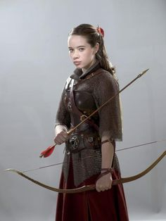 Anna Popplewell - Promo Photoshoot For The Chronicles Of Narnia: Prince Caspian #Archery