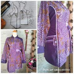 Blouse Batik, Batik Dress, Mode Batik, Fancy Kurti, Fancy Tops, Batik Fashion, Blouse Models, Girl Dress Patterns, Designer Kurtis