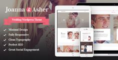 Wedding Day - Event WordPress Theme Wedding Event is an elegant 100% responsive WordPress Theme with a fashionable clean look. It is designed for any Wedding or Engagement event and helps you to give all the information to wedding guests or make an Invitation for your marriage party.