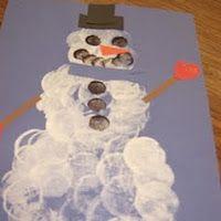 Marshmallow print snowman