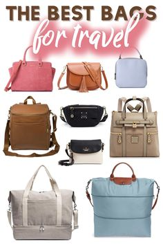 "The Best Handbags and Carry-on Bags for Travel Written with the stylish traveler in mind, this list of ""the best bags for travel"" covers the best carryon bags, the chicest camera bags, the best day bags and most stylish backpacks for women when traveling. Bags Travel, Travel Purse, Packing List For Travel, Travel Gifts, Vacation Packing, Purses For Travel, Best Backpack For Travel, Golf Travel, Best Carry On Bag"