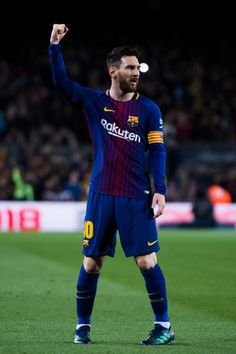 Lionel Messi Photos - Lionel Messi of FC Barcelona celebrates after scoring the opening goal during the La Liga match between Barcelona and Leganes at Camp Nou on April 2018 in Barcelona, Spain. - Barcelona v Leganes - La Liga Messi And Ronaldo, Messi 10, God Of Football, Football Players, Messi Photos, Leonel Messi, Barcelona Futbol Club, Camp Nou, Latest Sports News
