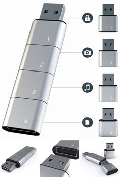 •• Amoeba Modular USB Flash Drive •• by Hyunsoo Son • advantages: MOD / reorder / chain as much or as little as you wish to compartmentalize your storage ; ) (via dornob.com) • view: stack