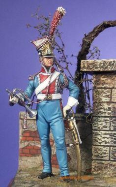 Le trompette du 1er régiment de Chevau-léger polonais.