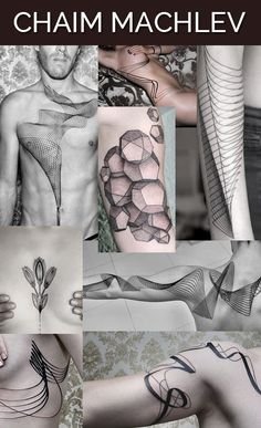 Known in the tattoo world as Dots to Lines, Chaim Machlev creates stark black-ink geometric tattoos that are both intricate and pristine.Check out more of his work here. Hand Tattoos, Xoil Tattoos, Unique Tattoos, Dots To Lines, Places For Tattoos, Tattoos For Guys, Tattoos For Women, Little Mermaid Tattoos, Art Inspired Tattoos