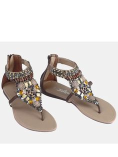 Joe Browns Beaded Toe Post - head to toe glamour in these chic, bohemian sandals Girls Flip Flops, Bohemian Sandals, Beaded Top, Comfortable Fashion, Shoe Boots, Kids Fashion, Footwear, Toe, Clothes For Women