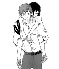 anime, beautiful, and girl image Couple Manga, Anime Love Couple, Manga Anime, Manga Art, Anime Monochrome, Anime Friendship, Cute Anime Coupes, Manga Love, Anime Poses