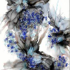 #artporn #alcoholink #alcoholinkpainting #inkart #painting #inkpainting #flowerpainting #lovecolors #floralart #contemporaryart #fluidart #modernart #southsea #southseaartist #timholtz #rangerink #art #abstract #gallery #floral #bloomnjazz