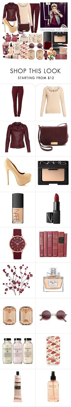 """""""Backstage with Niall"""" by lauraseidlova ❤ liked on Polyvore featuring TURNOVER, Monsoon, MuuBaa, Marc by Marc Jacobs, NARS Cosmetics, Cost Plus World Market, Christian Dior, Janis Savitt, Tory Burch and Aesop"""