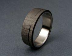 Carbon Fiber and Titanium ring  Pinstripe van hersteller op Etsy