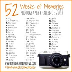 Finding Myself Young 52 Weeks of Memories is a 52 weeks photography challenge following weekly prompts that can be shared on instagram, facebook or the blog.