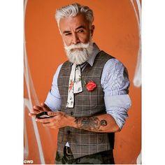 What stylish young man  #dapper #gentleman #gwd #menswear #style #fashion #beard #swag #swagger #moda #mensfashion #streetstyle #tattoos #hair #instafashion photo credit @charleyph @gentlemen_wear_daily