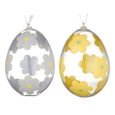 Buy John Lewis Floral Glass Egg Decorations, Blue/Yellow, Assorted Online at johnlewis.com Easter Food, Easter Eggs, Egg Decorating, John Lewis, Blue Yellow, Christmas Bulbs, Decorations, Holiday Decor, Glass