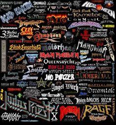 Heavy Metal Music throughout history Heavy Metal Bands, Heavy Metal Shirts, Heavy Metal Music, Twisted Metal, Power Metal, Rock Poster, Metal Band Logos, Hard Rock Music, Band Wallpapers
