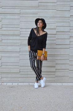 JUNESIXTYFIVE - Pantalon à rayures