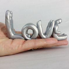 LOVE sculpture | handmade love message | made-to-order in your choice of color