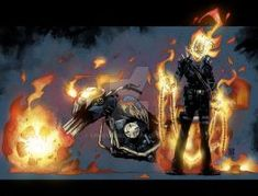 *Edit* made some tweaks based on you guys' suggestions Another quickie, just to keep me honest Happy belated of July Lines - Colors - Ghost Rider © . Ghost Rider by Tom Raney Marvel Comic Character, Marvel Characters, Character Art, Character Design, Marvel Comic Universe, Marvel Comics Art, Marvel Heroes, Ghost Rider Johnny Blaze, Ghost Rider Marvel