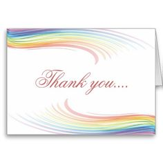 Shop Rainbow Wave Thank you Card created by Willowdesign. Thank You Greeting Cards, Thank You Greetings, Custom Thank You Cards, Shopping Sites, Paper Texture, Smudging, Waves, Rainbow, Writing