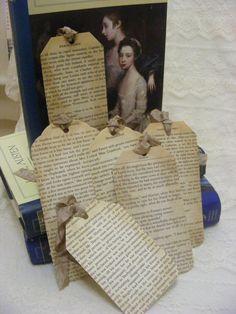 Jane Austen Book Page Bookmarks