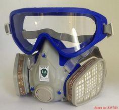 Silicona respirador máscara de gas de pesticidas de pulverización de pintura pintura de la cara llena máscara de filtro de carbón de gas boxe protect mask Envío gratis