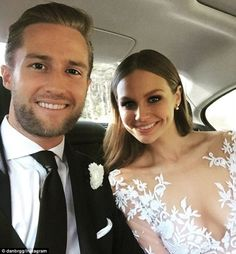 Selfie time! Dan and Ksenija both took to Instagram to share behind-the-scenes snaps from ...